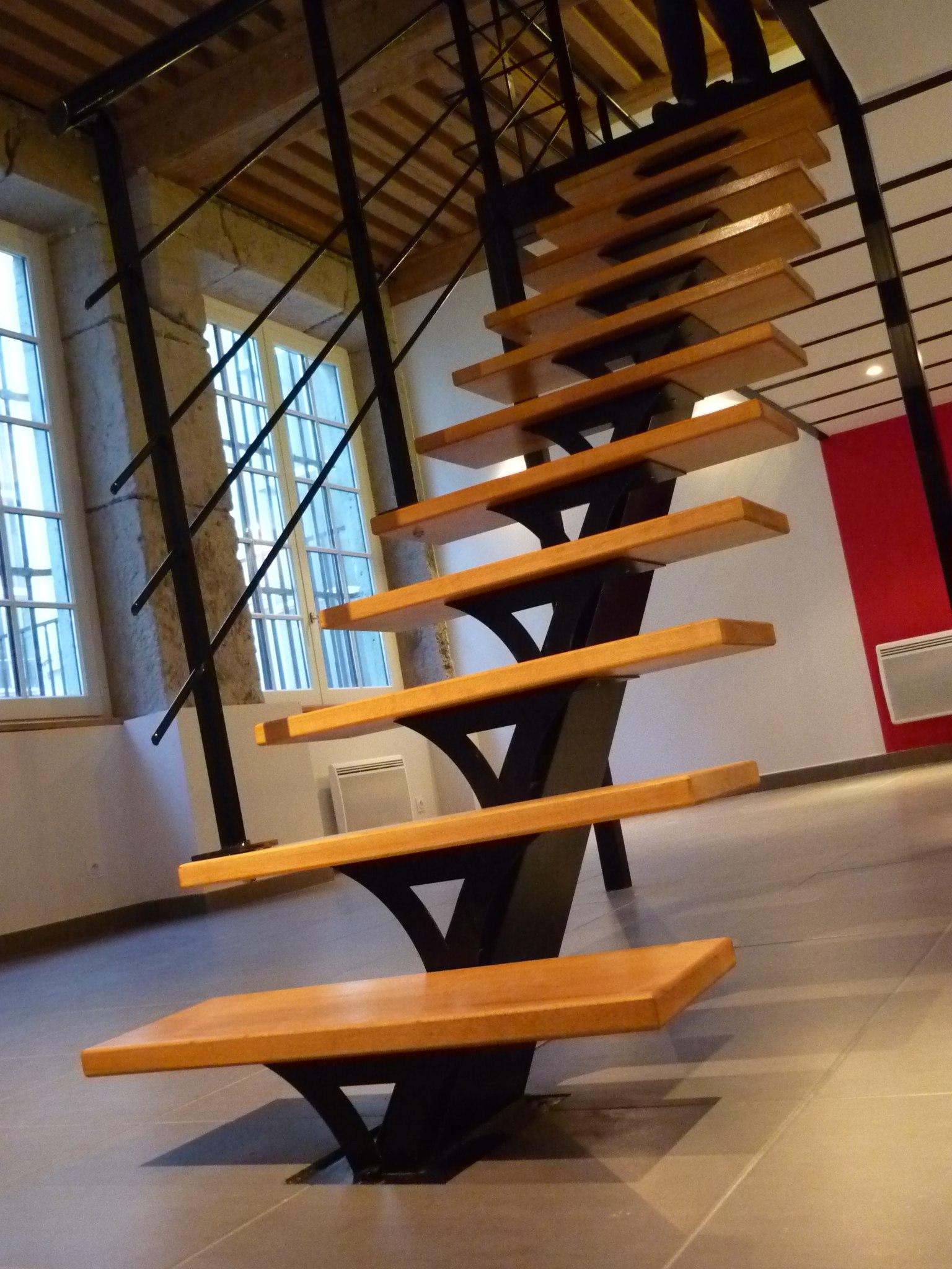 escalier droit métal Yoursteel